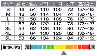 【Dickiesディッキーズ】ストライプツヅキ服 サイズ詳細