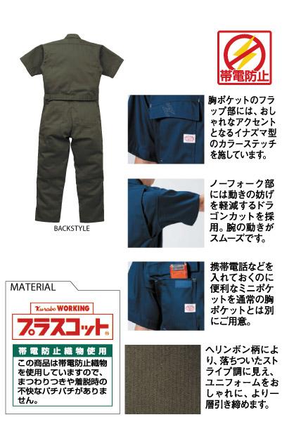 半袖ツヅキ服(ドラゴンカット採用)