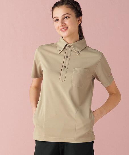 【MICHEL KLEIN】ミッシェルクラン ボタンダウンニットシャツ(兼用)