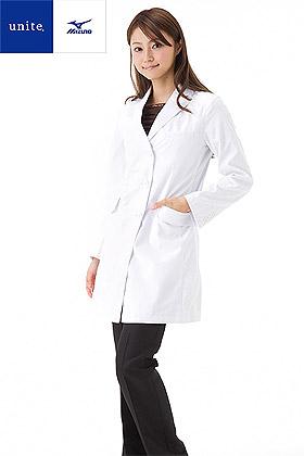 【Mizuno】ミズノ ドクターコート白衣【女】(制菌・透け防止機能)