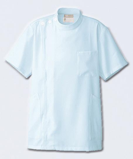【全2色】メンズ半袖ケーシーコート 白衣