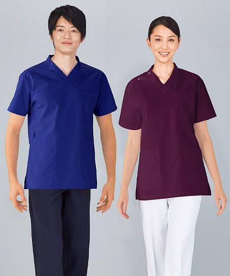 【WHISEL】ホワイセル 抗ウイルス加工スクラブ 白衣(男女兼用)
