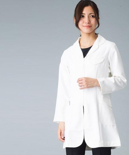 asicsレディスドクターコート白衣(長袖)