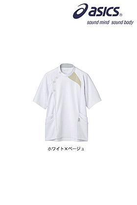 asicsメンズジャケット半袖 白衣