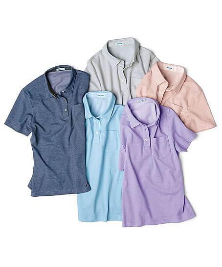 【WEB期間限定セール】【5色】半袖ポロシャツ(レディース)